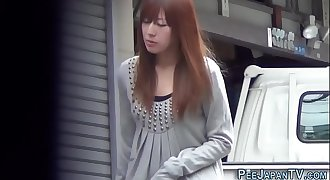 Babes pee in tokyo alley