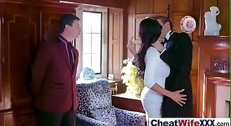 (patty michova) Naughty Wife Cheating In Front Of Camera movie-23