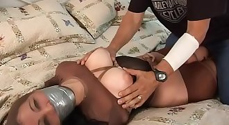 dahlia bondage in pantyhose encased