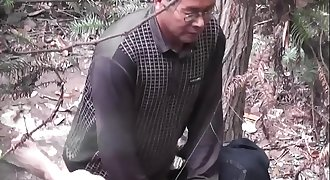 Asian old man fuck whore in wood  1 goo.gl/TzdUzu