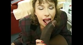 Big black dick doing anal to hairy mature bitch
