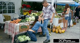 Farmer'_s Slutty Wife Eva Lovia Cheating With A Random Customer