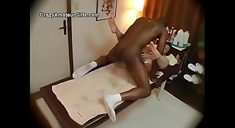 Asian orgasms and gets creampie from bbc