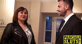 Busty Laura Louise takes a big fat dick deep inside her cunt
