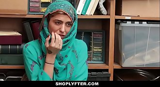 Shoplyfter- Hot Muslim Teenager Caught &amp_ Harassed