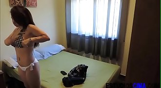 Busty milf fucked in the bed