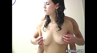 Sexy Japanese babe Maria Ozawa shows how to handle a dick